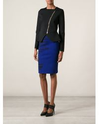 Roland Mouret | Blue Poplar Pencil Skirt | Lyst
