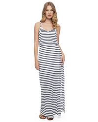 Splendid - Black Venice Stripe Maxi Dress - Lyst