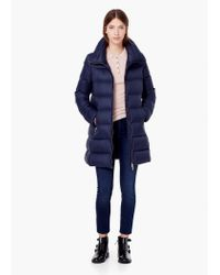 Mango | Blue Quilted Feather Coat | Lyst