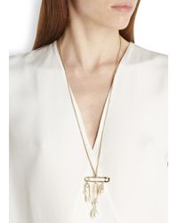 Vivienne Westwood | Metallic Jordan Gold Plated Faux Pearl Necklace | Lyst