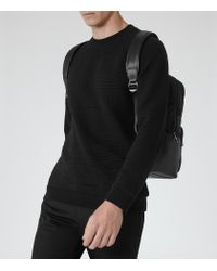 Reiss - Black Troy Patterned Sweatshirt for Men - Lyst