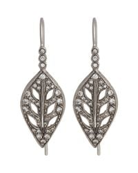 Cathy Waterman | White Leaf Drop Earrings | Lyst