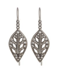 Cathy Waterman - White Leaf Drop Earrings - Lyst