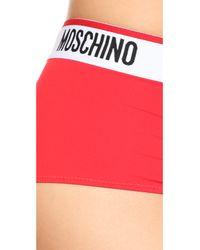 Moschino - Red Boy Shorts - Lyst
