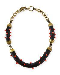 Lela Rose - Multicolor Studded Statement Necklace - Lyst