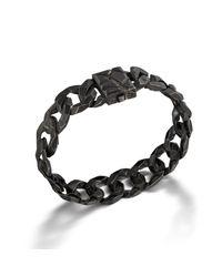 John Hardy | Medium Link Bracelet With Black Oxidation for Men | Lyst