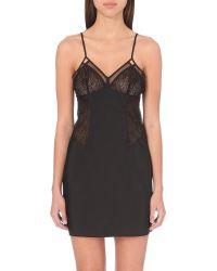 Calvin Klein | Primal Lace Chemise, Women's, Size: M, 001 Black | Lyst