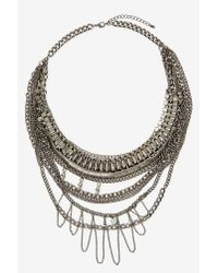 Nasty Gal - All Mixed Up Metallic Necklace - Lyst