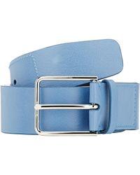 Jil Sander - Blue Leather Belt for Men - Lyst