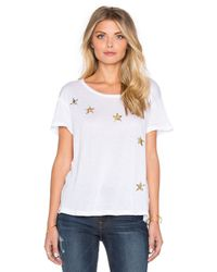 Sundry | White Scatter Stars Loose Crew Neck Tee | Lyst