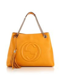 Gucci | Yellow Soho Leather Shoulder Bag | Lyst