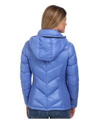 MICHAEL Michael Kors | Blue Packable W/ Side Quilt & Hood | Lyst