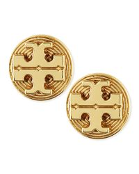 Tory Burch | Metallic Golden Livia Stud Earrings | Lyst