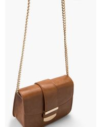 Mango | Brown Small Flap Bag | Lyst