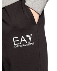 EA7 | Gray Cotton Sweatshirt & Jogging Pants | Lyst