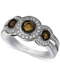Le Vian | Chocolatier® Diamond Ring (3/4 Ct. T.w.) In 14k White Gold | Lyst
