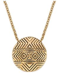 House of Harlow 1960 | Metallic Gold-tone Mosaic Pendant Necklace | Lyst