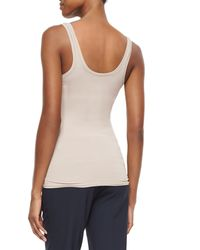 Theory | White Fliore Jersey Tank Top | Lyst
