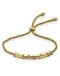 Monica Vinader - White Esencia Scatter Friendship Bracelet - Lyst