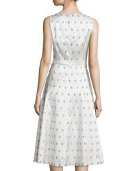 Michael Kors - White Sleeveless Embellished-paisley Dance Dress - Lyst