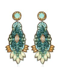 Suzanna Dai | Blue Orsay Drop Earrings, Seafoam | Lyst