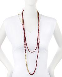 Nakamol | Purple Long Merlot Quartz Beaded Necklace | Lyst
