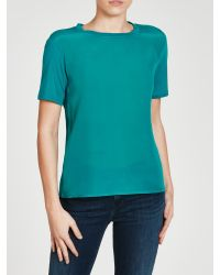 Weekend by Maxmara - Green Aggravi Jersey Back Top - Lyst