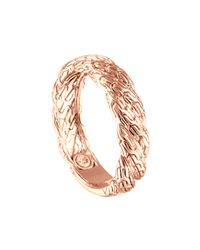 John Hardy | Pink Classic Chain Twisted Rose Gold Ring | Lyst