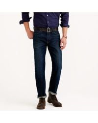 J.Crew | Blue Straight Jean In Dark Worn Wash for Men | Lyst
