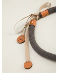 Vice & Vanity | Gray 'kisa' Necklace | Lyst