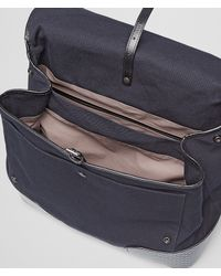 Bottega Veneta - Blue Dark Navy Canvas Intreccio Scolpito Details Backpack for Men - Lyst