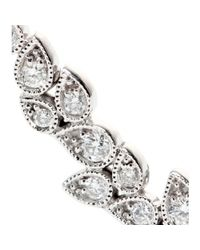 Stone | Metallic Whisper 18kt White Gold Ear Cuff with White Diamonds | Lyst