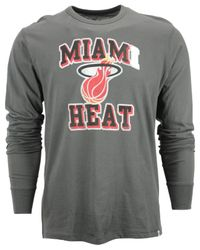 47 Brand - Gray Men's Long-sleeve Miami Heat Flanker T-shirt for Men - Lyst