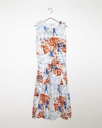 Zucca | Multicolor Printed Cotton Dress | Lyst