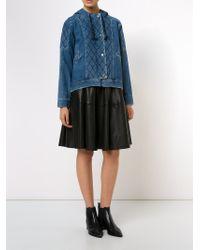 Sea - Blue Quilted Denim Jacket - Lyst