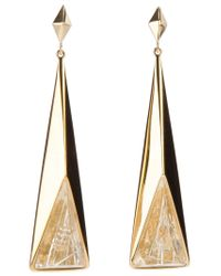 Chloé | Metallic Long Drop Earrings | Lyst