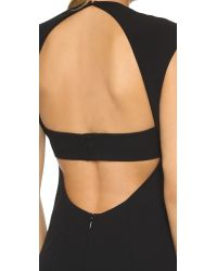 T By Alexander Wang | Black Matte Crepe Exposed Back Gown | Lyst