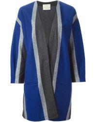 Forte Forte - Blue Striped Coat - Lyst
