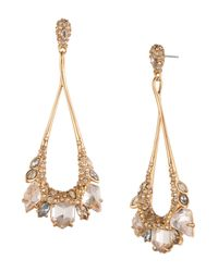 Alexis Bittar | Metallic Marquis Cluster Teardrop Earrings | Lyst