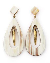 Ashley Pittman - White Heleni Earrings - Lyst