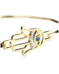 ASOS - Metallic Limited Edition Hamsa Bangle Bracelet - Lyst