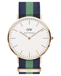 Daniel Wellington - Green 'classic Warwick' Nato Strap Watch - Lyst