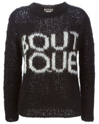Boutique Moschino - Black Boutique Open Knit Sweater - Lyst