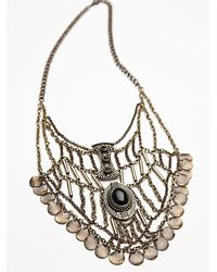 Free People | Metallic Womens Katie Coin Statement Necklace | Lyst
