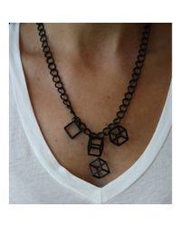 Spectrum | Black Cubist Necklace | Lyst