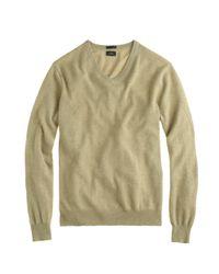J.Crew - Green Slim Italian Cashmere V-neck Sweater for Men - Lyst