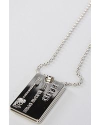 Flud Watches | Metallic The Credit Card Necklace | Lyst