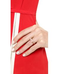 Vita Fede - Metallic Ultra Mini Ring - Rose Gold/pearl - Lyst