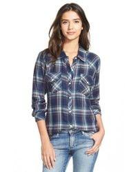Rails - Blue 'kendra' Plaid Shirt - Lyst