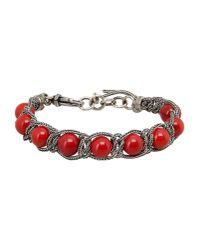 Emanuele Bicocchi | Red Bracelet | Lyst